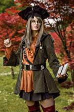 Фото Михаил Давыдов фотограф Косплей Позирует Очках Взгляд Scholar, Final Fantasy XIV девушка Игры Фэнтези