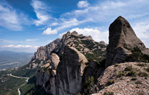 Картинка Испания Гора Скалы Catalonia