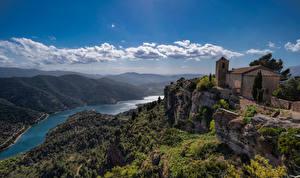 Фотография Испания Гора Речка Облака La Siurana, Catalonia