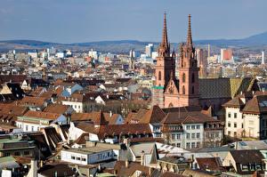 Картинки Швейцария Здания Церковь Краши Basel, Basel-Stadt