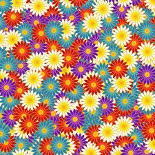 Картинка Текстура Много Разноцветные Цветы