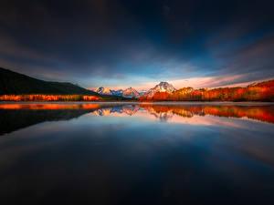 Фото Америка Горы Парки Озеро Пейзаж Grand Teton National Park, Wyoming