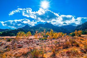 Фотография Штаты Горы Парк Пейзаж Калифорния Облака Солнца Malibu Creek State Park Природа