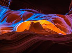 Обои Штаты Каньона Скале Upper Antelope Canyon, Arizona