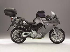 Фотографии БМВ Серая Сбоку F 800 ST (K71), 2004–12 Мотоциклы