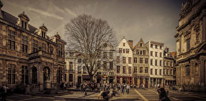 Фотография Бельгия Дома Улица Antwerpen Города