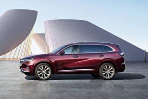 Картинка Buick Сбоку Металлик Кроссовер Бордовый Envision Plus Avenir, China, 2021 автомобиль