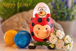 Картинка Пасха Эустома Креативные Слова Английская Яйцо Цветы