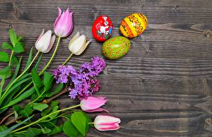 Картинки Пасха Тюльпаны Сирень Яйцо