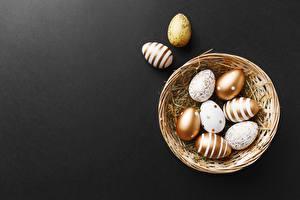 Обои для рабочего стола Пасха Корзинка Яйцами