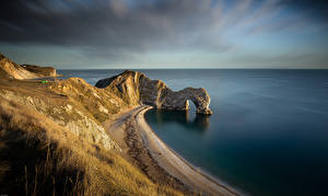 Фотографии Англия Побережье Скала Арки Dorset
