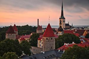 Фотографии Эстония Таллин Дома Башня Old Tallinn