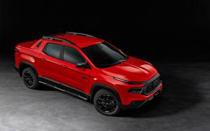 Картинки Fiat Красных Металлик Пикап кузов Toro Ultra (226), 2021 автомобиль