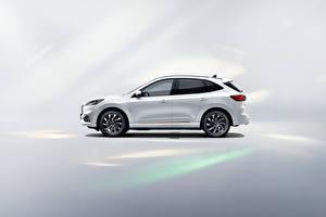 Обои для рабочего стола Форд Белая Металлик Сбоку Escape PHEV, (China), 2021 машина