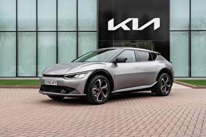 Картинка KIA Серые Металлик EV6, (Worldwide), 2021 Автомобили