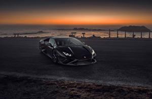 Фотографии Lamborghini Серый Металлик Купе 2021 Novitec Huracán EVO RWD машины