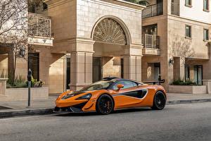 Обои Макларен Оранжевый Металлик 620R, 2021 Автомобили