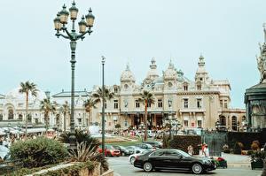 Картинки Монте-Карло Монако Уличные фонари Пальма Казино Города