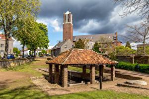 Картинка Нидерланды Дома Церковь Baarlo, Wasplaats De Sprunk