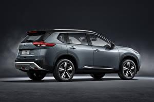 Обои для рабочего стола Nissan Внедорожник Серые Металлик Сбоку X-Trail, China, 2021 машина