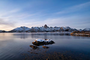 Фотография Норвегия Гора Лофотенские острова Sortland Природа