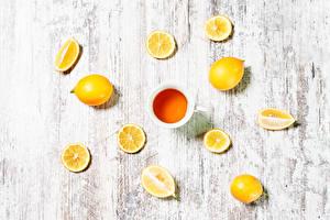 Обои Чай Лимоны Чашка Еда