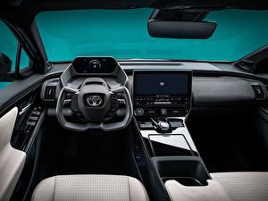 Фотографии Toyota Салоны Рулевое колесо Кроссовер bZ4X Concept, 2021