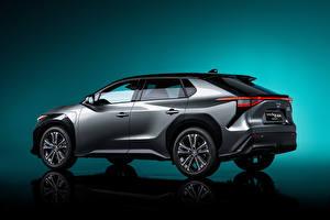Картинка Тойота Кроссовер Серый Металлик bZ4X Concept, 2021 Автомобили