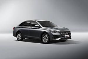 Фотографии Металлик Китайская Сером фоне Trumpchi GA4 Plus, 2021 автомобиль