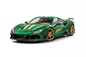 Фотографии Стайлинг Зеленых Металлик Белым фоном Mansory F8XX, 2021 Автомобили
