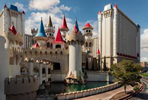 Картинки США Здания Лас-Вегас Башня город