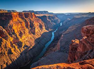 Картинка США Парки Гранд-Каньон парк Речка Скалы Каньоны Toroweap, Arizona Природа