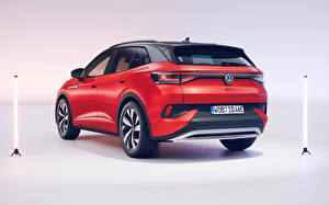 Фотография Volkswagen CUV Красные Металлик ID.4 GTX (Worldwide), 2021 машина