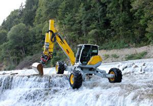 Обои Водопады Экскаватор 2013-21 Menzi Muck M545