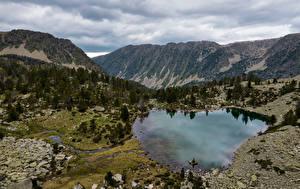 Картинки Андорра Горы Озеро Парки Vall del Madriu-Perafita-Claror Природа
