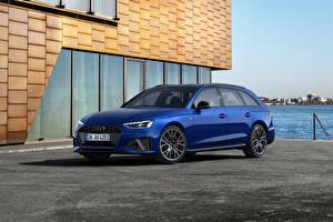 Картинки Audi Синий Металлик A4 Avant S line competition plus, (Worldwide), (B9), 2021 машины