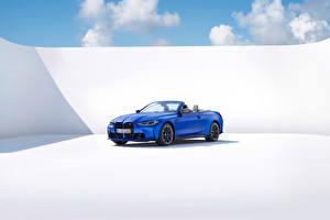 Фотографии БМВ Синяя Металлик Кабриолета M4 Competition M xDrive Cabrio, (Worldwide), (G83), 2021 автомобиль