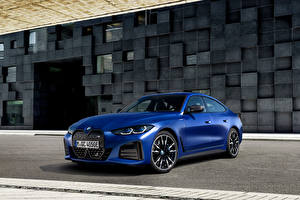 Обои BMW Синие Металлик i4 M50, (Worldwide), (G26), 2021 авто