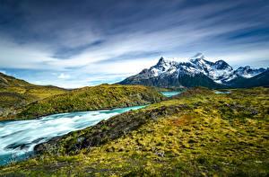 Картинки Чили Гора Парки Torres del Paine National Park, Patagonia Природа