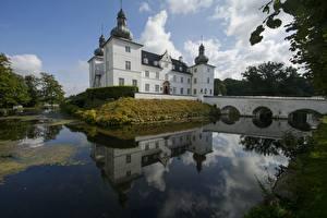 Фото Дания Замки Озеро Nestved, Castle, Engelsholm Lake Города