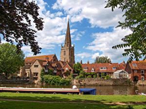 Фотографии Англия Дома Реки Пирсы Abingdon, Oxfordshire