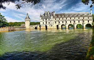 Фотографии Франция Замок Речка Chenonceau castle, Loire Castles