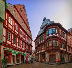 Картинка Германия Дома Улице Limburg an der Lahn