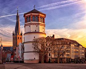 Обои Германия Дома Городская площадь Düsseldorf City Hall