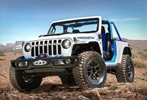 Фото Jeep Тюнинг Внедорожник Белых Пикап кузов 2021 Wrangler Magneto