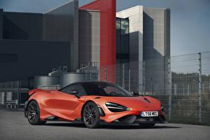 Картинки McLaren Красная 2020-21 765LT Worldwide авто