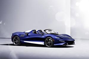 Фото McLaren Синие Металлик Родстер Elva Windscreen Version, (North America), 2021 авто