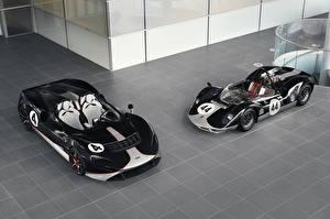 Фотография McLaren Тюнинг Двое Черных Металлик Родстер 2020-21 M1, MSO Elva M1A Theme Автомобили
