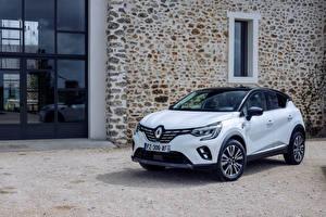 Фотографии Renault Белый Металлик Кроссовер Гибридный автомобиль Captur E-TECH Hybrid Initiale Paris, (Worldwide), 2021 Автомобили