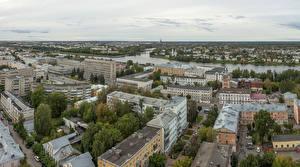 Фотография Россия Дома Реки Сверху Tver город